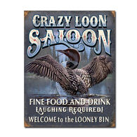 Desperate Enterprises Crazy Loon Saloon Tin Sign