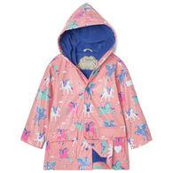 Hatley Toddler Girl's Magical Pegasus Color Changing Raincoat