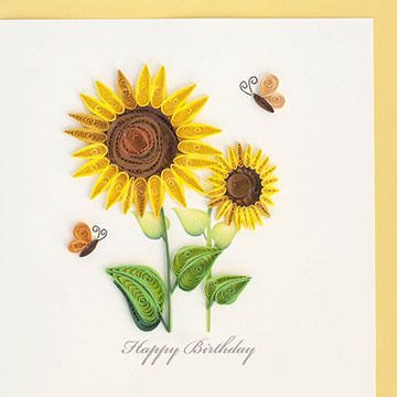 Quilling Card Sunflower Birthday Card