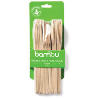 Bambu Veneerware Compostable Bamboo Knife, Fork & Spoon 24-Piece Set