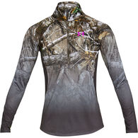 Under Armour Women's UA Tech Faded 1/4-Zip Long-Sleeve Shirt