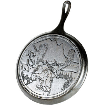 Lodge Wildlife Series Moose 10.5 Cast Iron Griddle