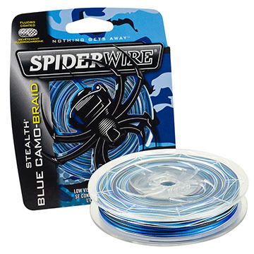 SpiderWire Stealth Blue Camo Braid Fishing Line - 200 Yards