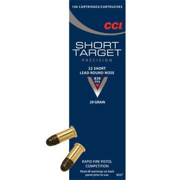 CCI Short Target 22 Short 29 Grain LRN Rimfire Ammo (100)