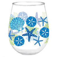 Cape Shore Maine Beach Batik Wine Tumbler