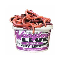 Wanglers Live Garlic Redworms Bait