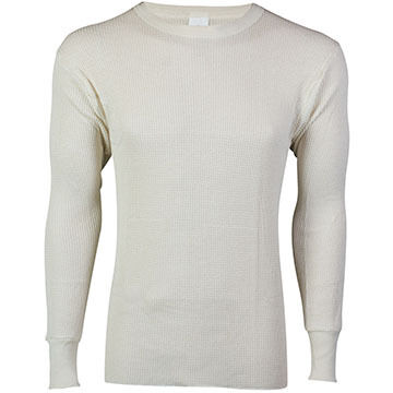 ColdPruf by Indera Mills Mens 100% Cotton Waffle Knit Crew-Neck Baselayer Top