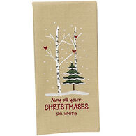 Park Designs May All Your Christmases Be White Dish Towel