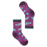SmartWool Youth Hike Light Park Explorer Pattern Crew Sock