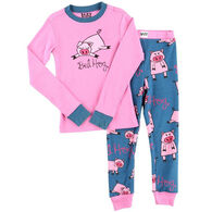 Lazy One Girls' Bed Hog PJ Set