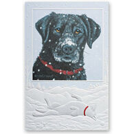 Pumpernickel Press Black Lab in New Snow Deluxe Boxed Greeting Cards