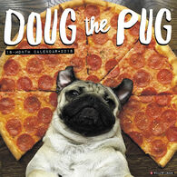 Willow Creek Press Doug the Pug 2018 Wall Calendar
