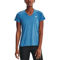 Under Armour Women's UA Tech Bubble Heather V-Neck Short-Sleeve T-Shirt