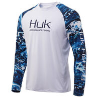Huk Men's Mossy Oak Double Header Performance Fishing Long-Sleeve Shirt