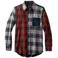 Pendleton Men's Fitted Mixed Tartan Lodge Wool Long-Sleeve Shirt