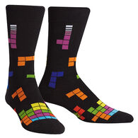 Sock It To Me Men's Tetris Action Shot Crew Sock