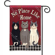 BreezeArt Kitties At Home Garden Flag