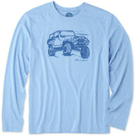 Life is Good Men's Off-Road Beach Long-Sleeve Cool T-Shirt