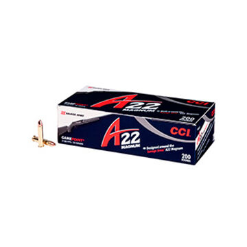 CCI A22 Magnum GamePoint 22 Win Mag 35 Grain JSP Ammo (200)