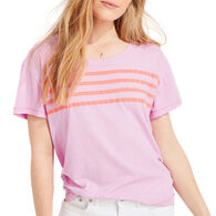 Vineyard Vines Women's Placed Stripe Surf Short-Sleeve T-Shirt