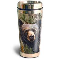 American Expedition Black Bear Camo Steel Travel Mug