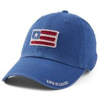 Life is Good Men's American Flag Tattered Chill Cap