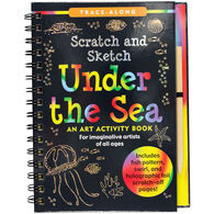 Under the Sea Scratch & Sketch Trace-Along Art Activity Book