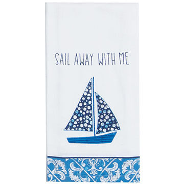 Kay Dee Designs Sailboat Flour Sack Towel