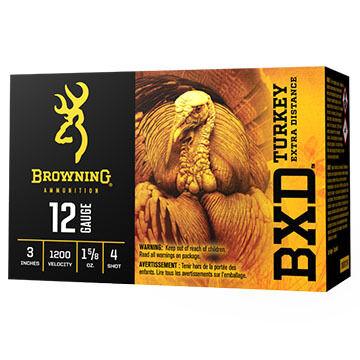 "Browning BXD Turkey Extra Distance 12 GA 3"" 1-5/8 oz. #6 Shotshell Ammo (10)"