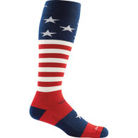 Darn Tough Vermont Men's Captain Stripe Over-the-Calf Light Cushion Ski/Ride Sock