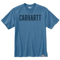 Carhart Men's Loose Fit Heavyweight Block Logo Graphic Short-Sleeve T-Shirt