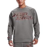 Under Armour Men's UA Rival Fleece Camo Script Crew Sweatshirt