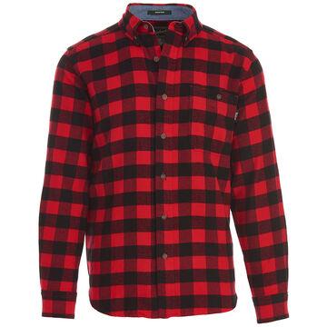 Woolrich Mens Trout Run Plaid Flannel Long-Sleeve Shirt
