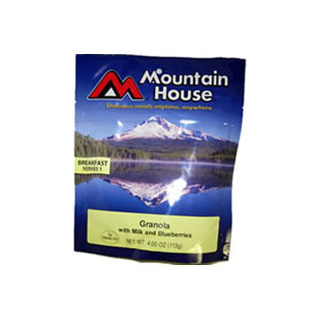 Mountain House Granola w/ Blueberries & Milk - 1 Serving