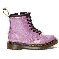 Dr. Martens AirWair Toddler Girls' 1460 Dark Pink Coated Glitter Lace Up Boot