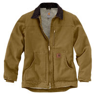 Carhartt Men's Big & Tall Sandstone Sherpa-Lined Ridge Coat