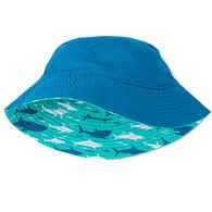 Hatley Boy's Toothy Sharks Reversible Sun Hat