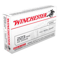 Winchester 223 Remington 62 Grain FMJ Rifle Ammo (20)