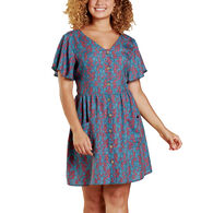 Toad&Co Women's Hillrose Button-Up Short-Sleeve Dress