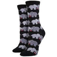 Socksmith Design Women's Elephant Love Crew Sock