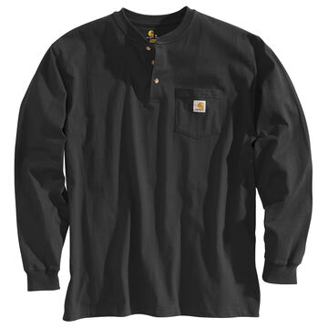 Carhartt Mens Big & Tall Workwear Henley Long-Sleeve Shirt