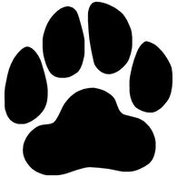 Sticker Cabana Paw Print Sticker