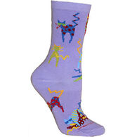 Wheel House Designs Crazy Cat Sock - Purple