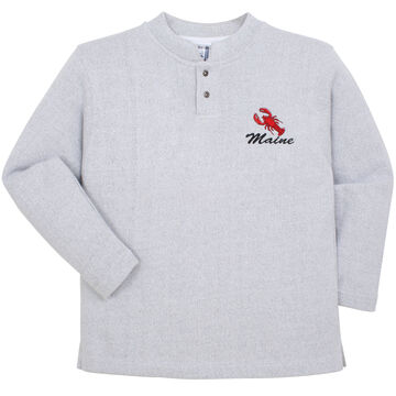 ESY Womens Maine Lobster Two Button Henley Sweatshirt