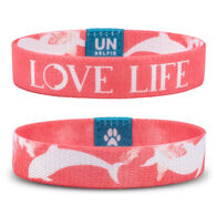 Unselfie Women's Love Life Pattern Wrist Band