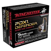 Winchester PDX1 Defender 9mm Luger 147 Grain Bonded JHP Handgun Ammo (20)