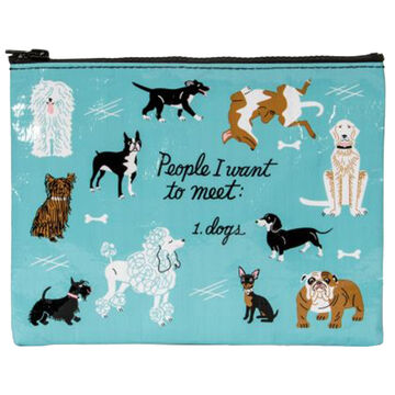 Blue Q Womens People I Want to Meet: Dogs Zipper Pouch