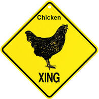 KC Creations Chicken XING Sign