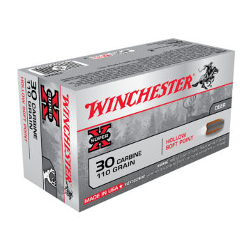 Winchester Super-X 30 Carbine 110 Grain Hollow Soft Point Rifle Ammo (50)