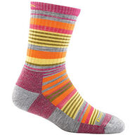 Darn Tough Vermont Girls' Sierra Stripe Jr. Micro Crew Light Cushion Sock